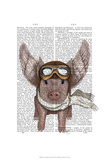 Aviator Piggy Posters by  Fab Funky