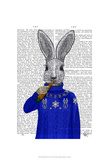 Rabbit In Sweater Prints by  Fab Funky