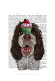 Springer Spaniel with Cupcake Posters by  Fab Funky