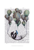 Penguin in Hammock Balloon Posters by  Fab Funky