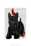 Scottish Terrier and Birds Prints by  Fab Funky