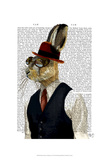 Horatio Hare In Waistcoat Prints by  Fab Funky
