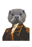 Captain Otter Poster by  Fab Funky