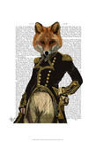 Admiral Fox Full Print by  Fab Funky