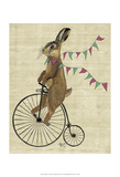 Rabbit On Penny Farthing Art by  Fab Funky