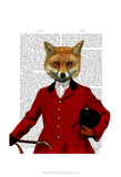Fox Hunter 2 Portrait Posters by  Fab Funky
