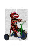 Sock Monkey on Tricycle Posters by  Fab Funky