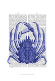 Blue Crab Poster by  Fab Funky