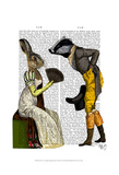 Look Of Love Regency Badger & Hare Couple Posters by  Fab Funky
