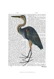 Blue Heron 3 Affiche par  Fab Funky