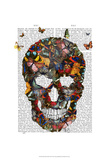 Butterfly Skull Prints by  Fab Funky