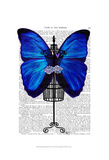 Mannequin Blue Butterfly Prints by  Fab Funky