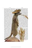 Meerkat Cowboy Posters by  Fab Funky