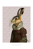 Madam Hare Poster by  Fab Funky
