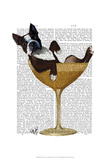 Boston Terrier in Cocktail Glass Poster by  Fab Funky