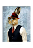 Horatio Hare in Waistcoat Art by  Fab Funky