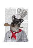 Schnauzer Chef Art by  Fab Funky