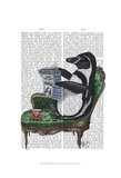 Penguin Reading Newspaper Posters by  Fab Funky