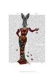 Rabbit Butterfly Dress Art by  Fab Funky