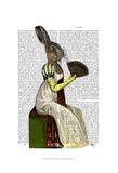 Miss Hare Prints by  Fab Funky