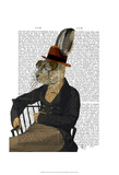 Horatio Hare On Chair Prints by  Fab Funky