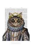 Cat Queen Prints by  Fab Funky