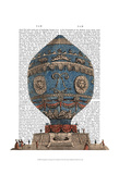 Montgolfier Aerostatique Hot Air Balloon Prints by  Fab Funky