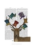 Hat Collector Deer Posters by  Fab Funky