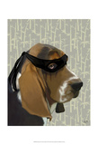 Ninja Basset Hound Dog Posters by  Fab Funky