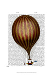 Royal Nassau Balloon Hot Air Balloon Posters by  Fab Funky