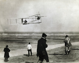 Wright Brothers Glider Flight Photo