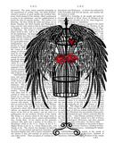 Mannequin With Black Wings Posters by  Fab Funky