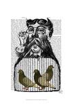 Pigeon Fancier Poster par  Fab Funky