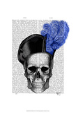 Skull with Blue Hat Posters by  Fab Funky