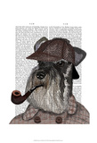 Schnauzer Sherlock Posters by  Fab Funky
