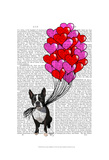 Boston Terrier And Balloons Posters by  Fab Funky