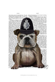 Bulldog Policeman Prints by  Fab Funky