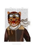 Flying Cat Prints by  Fab Funky