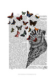 Conch Shell and Butterflies Posters by  Fab Funky