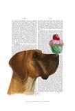Great Dane and Cupcake Sztuka autor Fab Funky