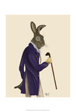 Hare In Purple Coat Affiches par  Fab Funky