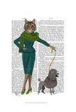 Cat and Poodle Prints by  Fab Funky