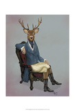 Distinguished Deer Full Prints by  Fab Funky