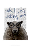 What Ewe Looking At Posters by  Fab Funky