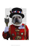 Bulldog Beefeater Prints by  Fab Funky