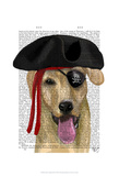 Yellow Labrador Pirate Poster by  Fab Funky
