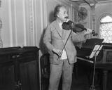Albert Einstein Playing Violin Photo