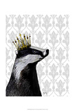 Badger King Print by  Fab Funky