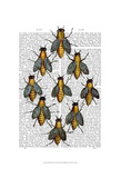 Medieval Bees Poster by  Fab Funky