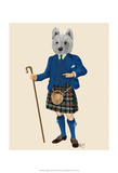 West Highland Terrier in Kilt Prints by  Fab Funky